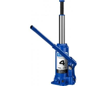 ЗУБР 4т, 192-374мм домкрат бутылочный гидравлический, Профессионал