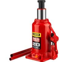 STAYER RED FORCE 20т 242-452мм домкрат бутылочный гидравлический