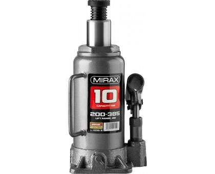 MIRAX 10т, 200-385 мм домкрат бутылочный гидравлический