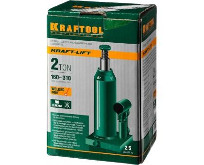 KRAFTOOL KRAFT-LIFT 2т, 160-310мм домкрат бутылочный гидравлический, KRAFT BODY