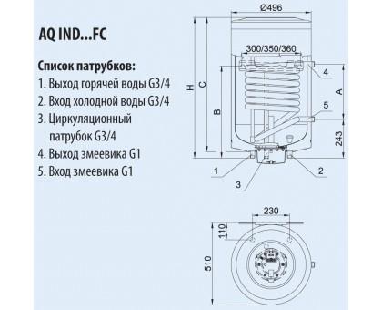 Водонагреватель HAJDU AQ IND 150 FC настенный