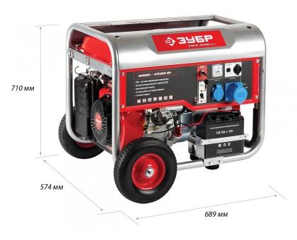 Бензиновый генератор с автозапуском, 4500 Вт, ЗУБР