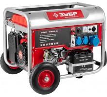 Бензиновый генератор с автозапуском, колеса и рукоятка, 5500 Вт, ЗУБР