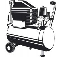 Компрессор воздушный с набором аксессуаров, 240 л/мин, 24 л, 1500 Вт, ЗУБР