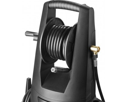 Мойка высокого давления (минимойка) электр, ЗУБР Профессионал АВД-П195, макс. 195Атм,390л/ч,2500Вт,колеса,бесщет двиг,АВТО-СТОП,барабан,пистолет 375