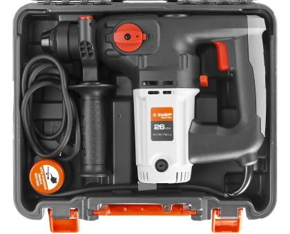 Перфоратор SDS-plus, ЗУБР ЗП-26-750 ЭК, 2.6 Дж, 0-1000 об/мин, 0-4800 уд/мин, 750Вт, кейс