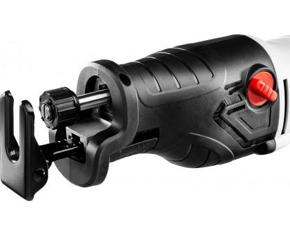 Пила сабельная (электроножовка), ЗУБР ЗПС-1400 Э, 1400 Вт, 0-2800 ход/мин, рез 255 мм (дерево), 20 мм (сталь), ход штока 32 мм, маятник. ход