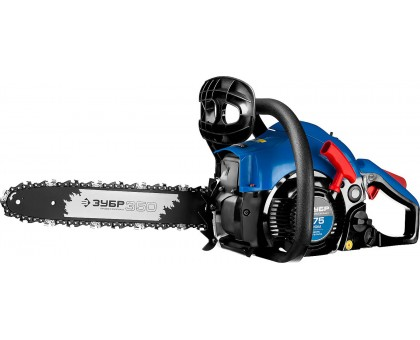 Пила цепная бензиновая, ЗУБР Профессионал ПБЦ-380 35П, хромир. цилиндр, праймер, 37,2 см3 (1,4 кВт), шина 35 см, 10800 об/мин
