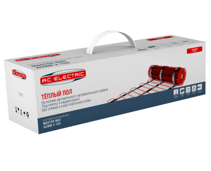 Мат нагревательный AC ELECTRIC ACMM 2-150-8 (комплект теплого пола)