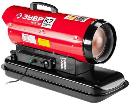 Пушка дизельная тепловая, ЗУБР ДП-К7-15000, 220 В, 15 кВт, 300 м.куб/час, 18.5 л, 1.3 кг/ч, регулятор температуры