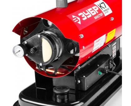 Пушка дизельная тепловая, ЗУБР ДП-К7-20000, 220 В, 20 кВт, 350 м.куб/час, 18.5 л, 1.9 кг/ч, регулятор температуры