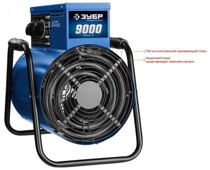 Пушка тепловая электрическая, 9 кВт, 380 В, ЗУБР Профессионал