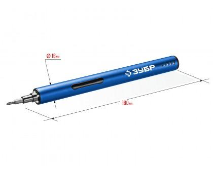 ЗУБР Профессионал ОТР-4 Н20 отвертка аккумуляторная 4 Vmax для точных работ с набором 20 бит